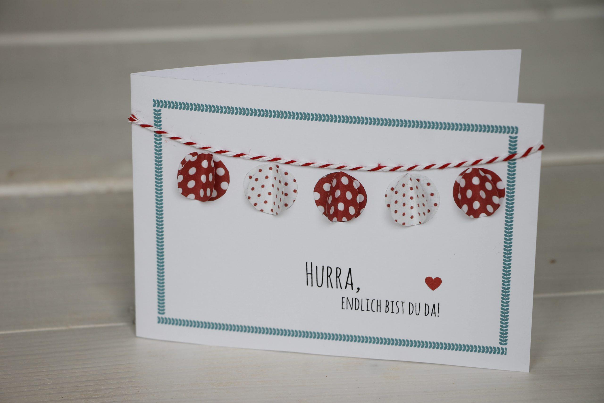 Glückwunschkarte Geburt Selber Basteln - Lavendelblog bestimmt für Glückwunschkarten Basteln