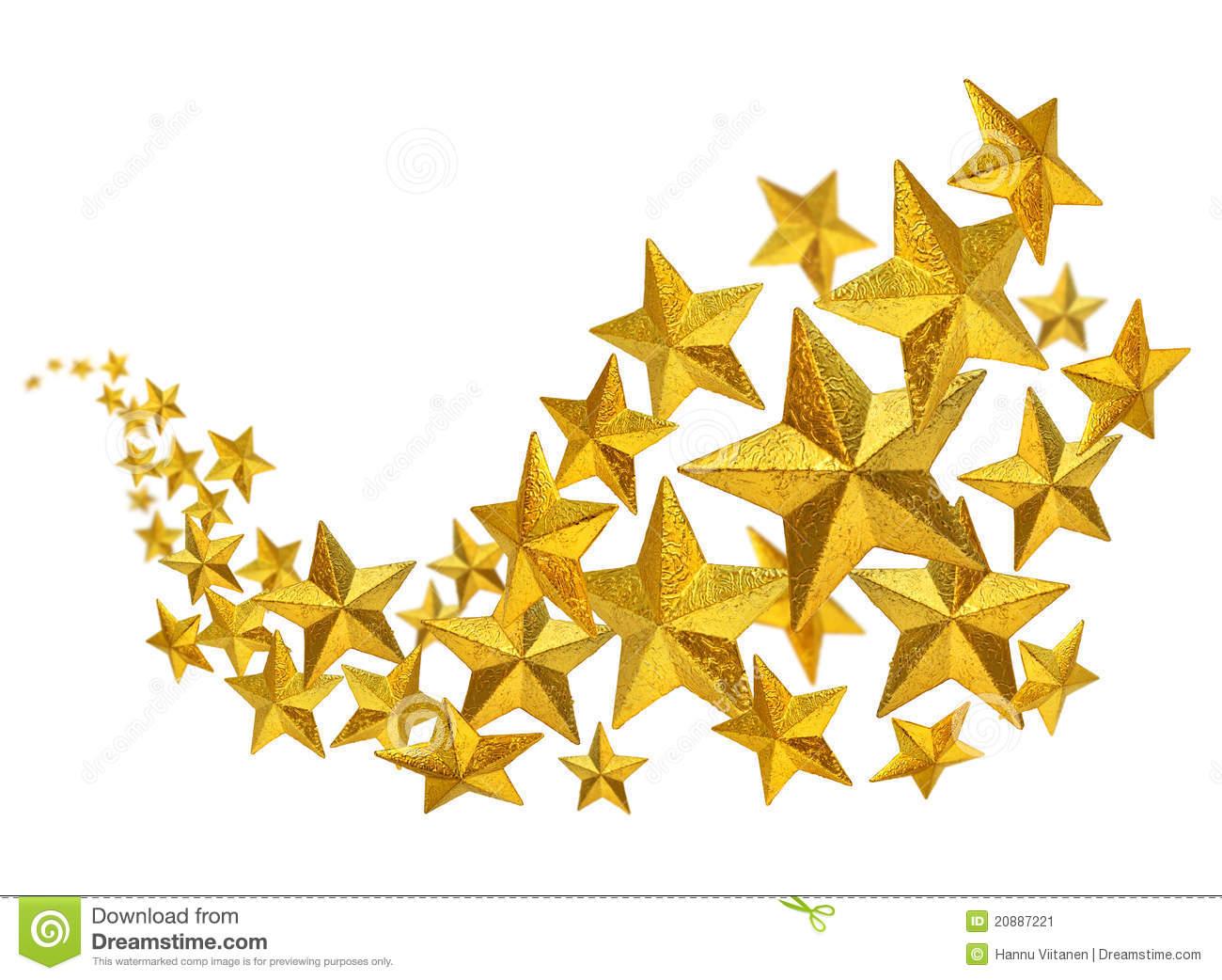 Goldene Sterne Fließen Stockbild. Bild Von Hintergrund innen Goldene Weihnachtssterne