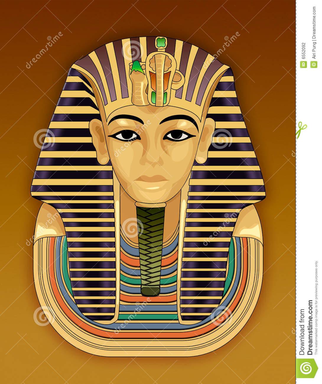Goldene Totenmaske Des Pharaos Stock Abbildung innen Pharao Totenmaske