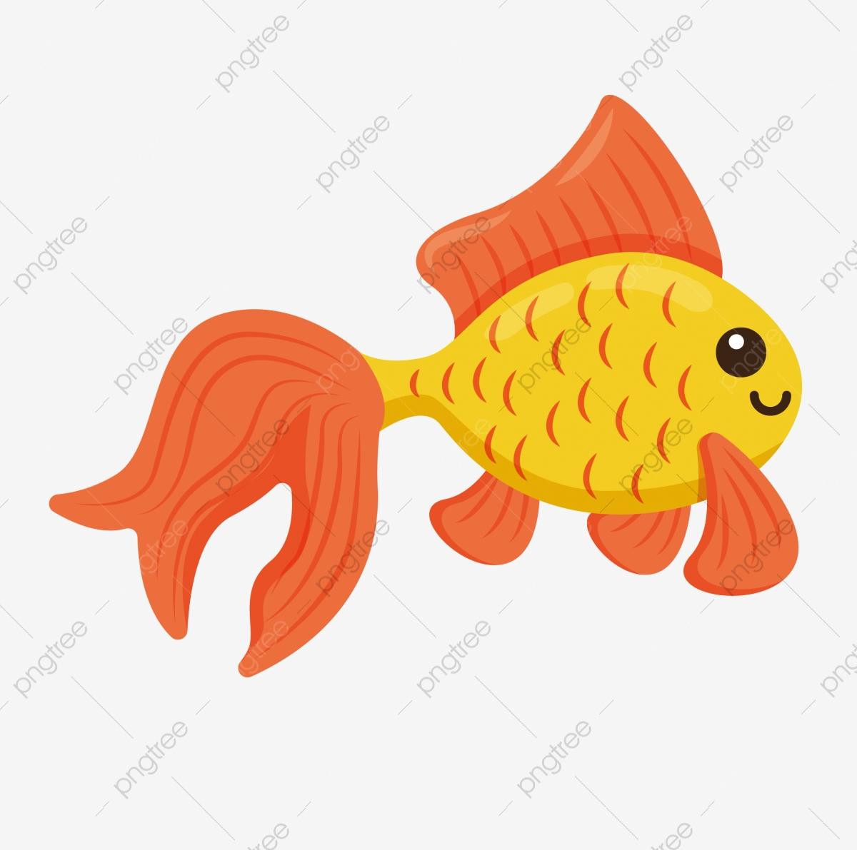 Goldfisch Zierfisch Durch Cartoon Fisch, Schön, Süß, Fisch in Fische Comic