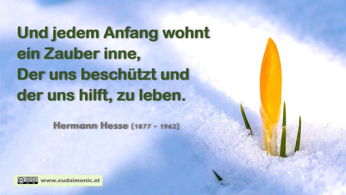 """Gottfried Epp On Twitter: """"und Jedem Anfang Wohnt Ein Zauber für Jedem Anfang Wohnt Ein Zauber Inne Zitat"""