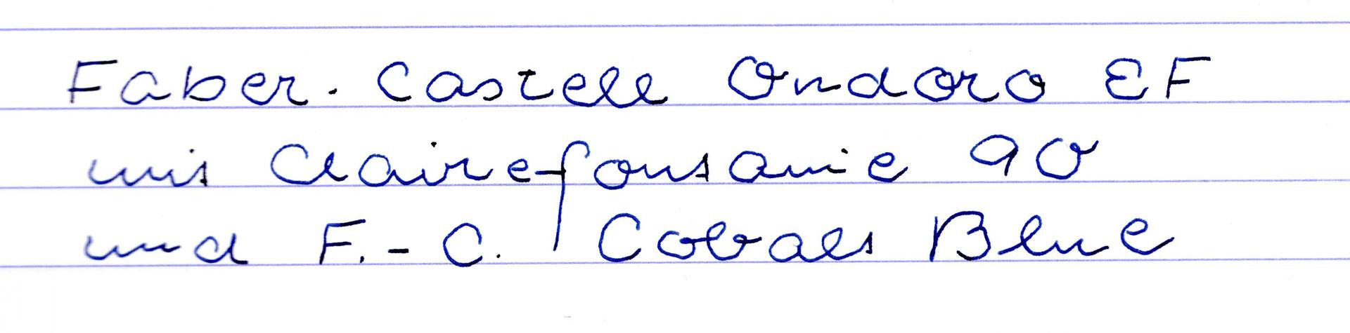 Graf Von Faber-Castell Cobalt Blue - Pens-And-Freaks: Freude in Faber Castell Tinte Dokumentenecht