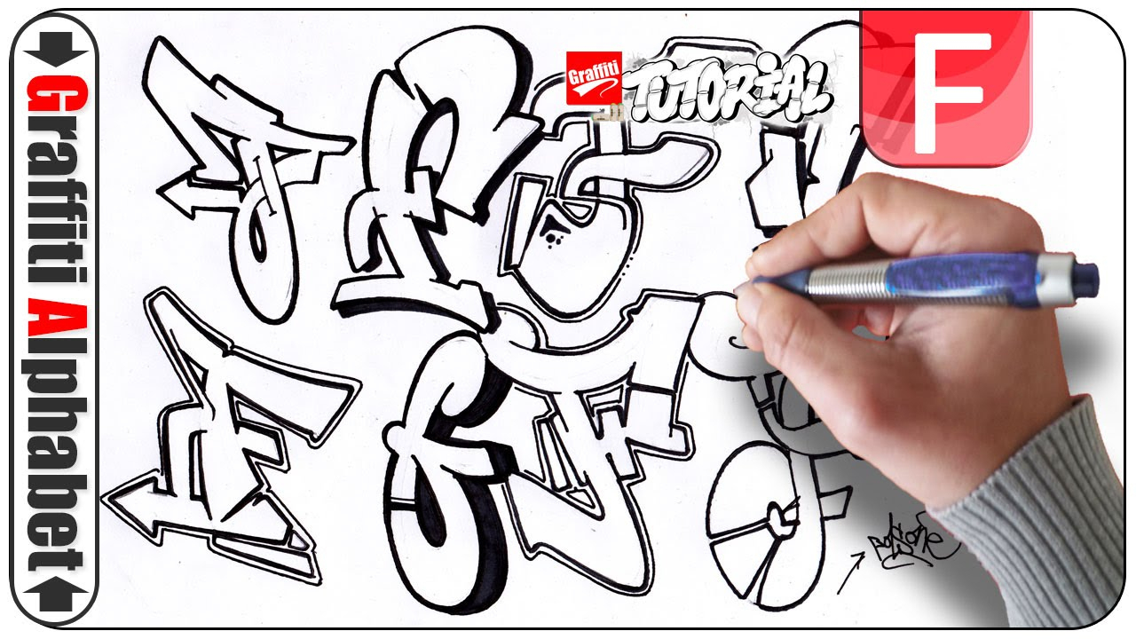 Graffiti Alphabet - Letter F - Buchstabe F - Letra F bei Graffiti Buchstabe F