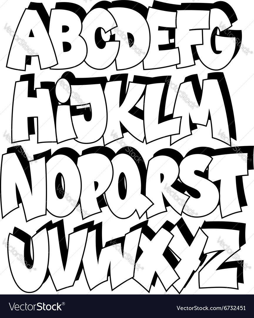 graffiti schriftarten abc  kinderbilderdownload