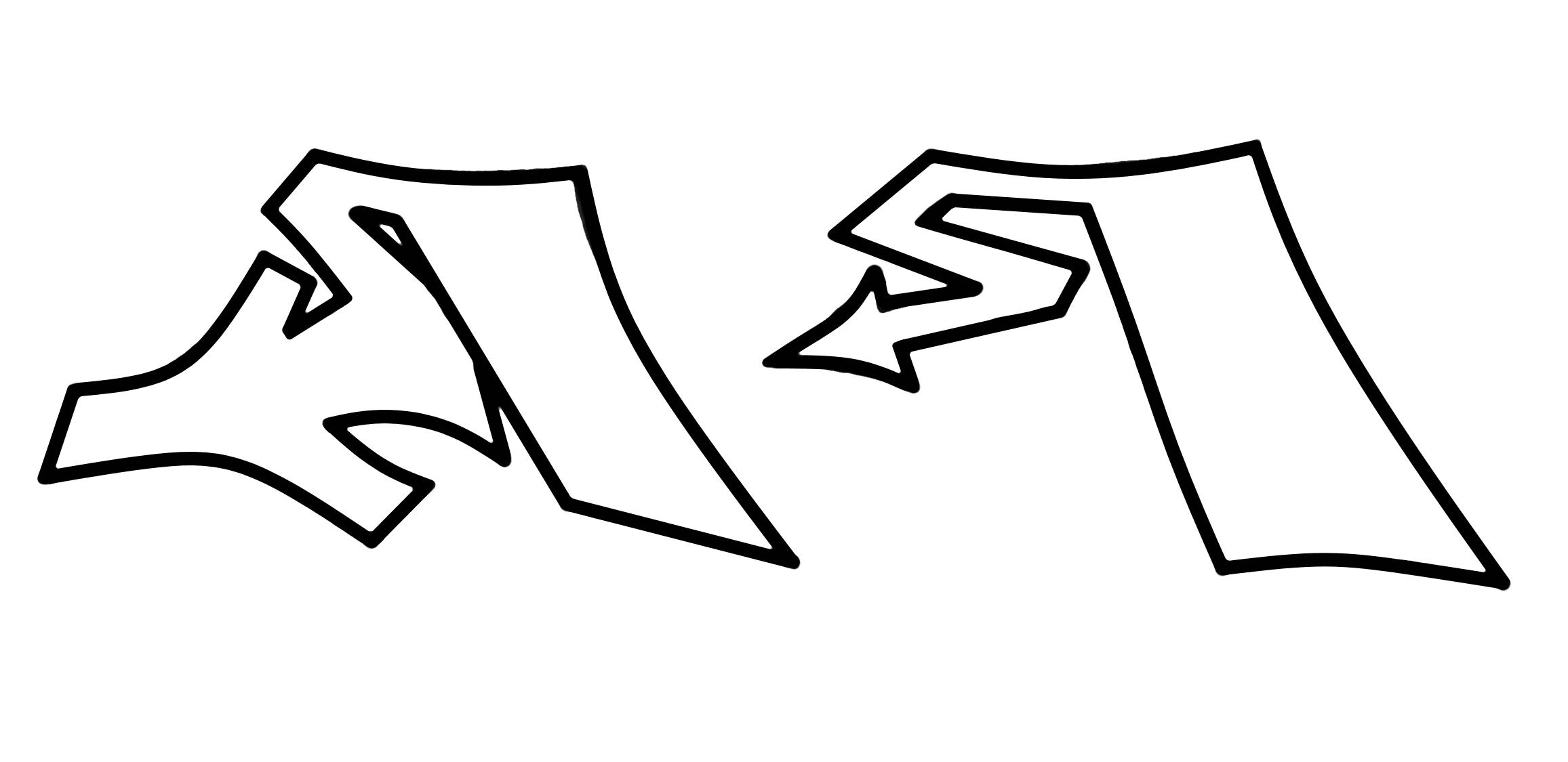 Graffiti Schrift | Graffiti Lernen | Graffiti Buchstaben für Graffiti Alphabet Lernen