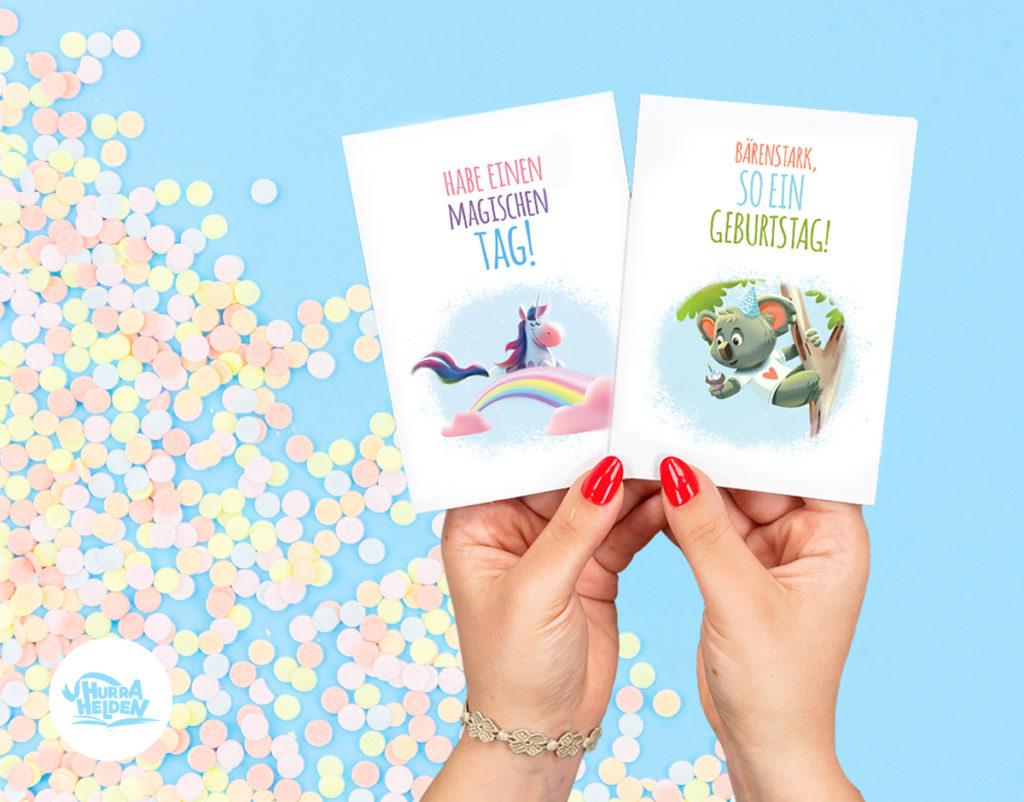 Gratis Geburtstagskarten - Hurra Helden für Gratis Geburtstagskarten