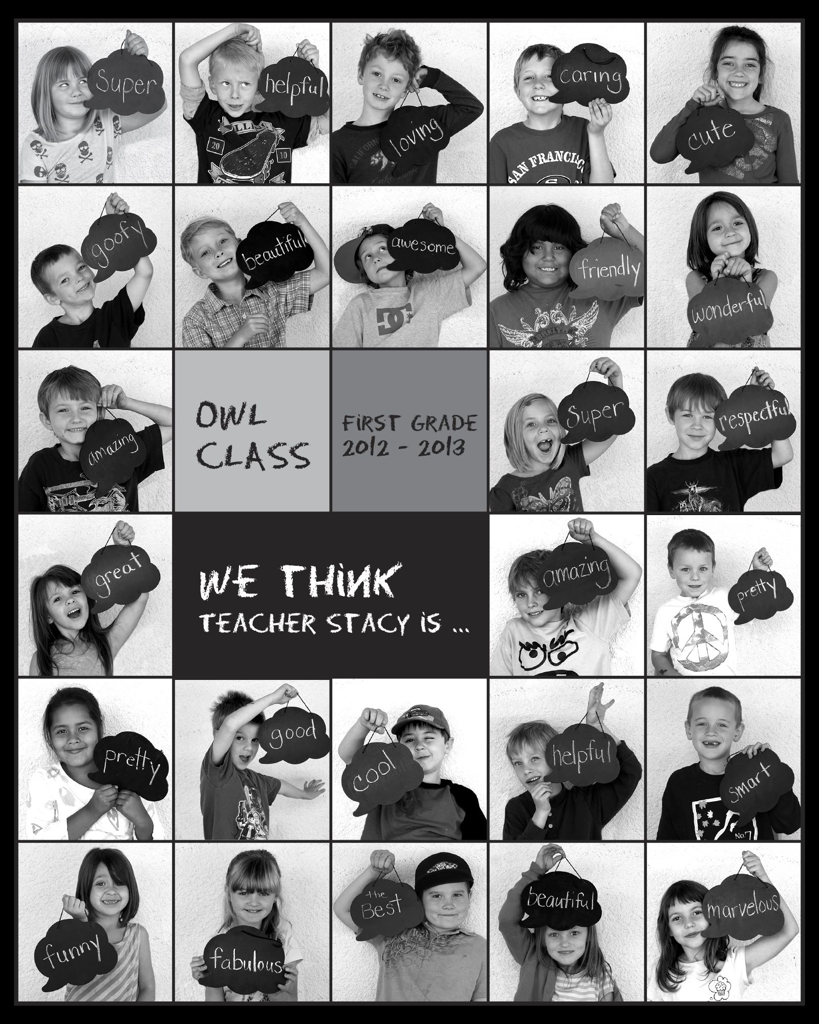 Great Class Gift Or Picture Of Child Each Year. | Lehrer verwandt mit Abschlussfeier Grundschule
