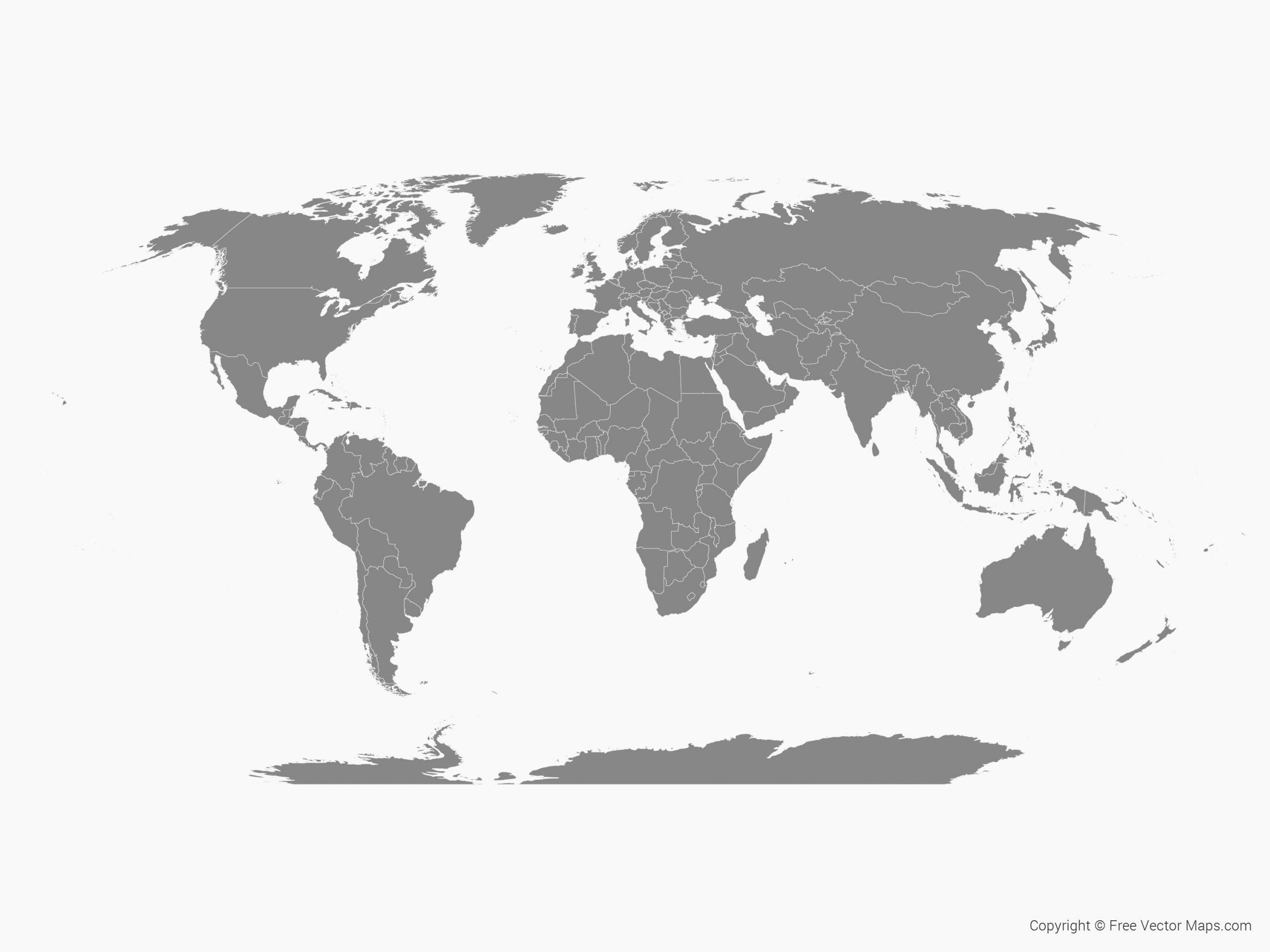 Groß Weltkarte Zum Download Kostenlos bei Weltkarte Blanko