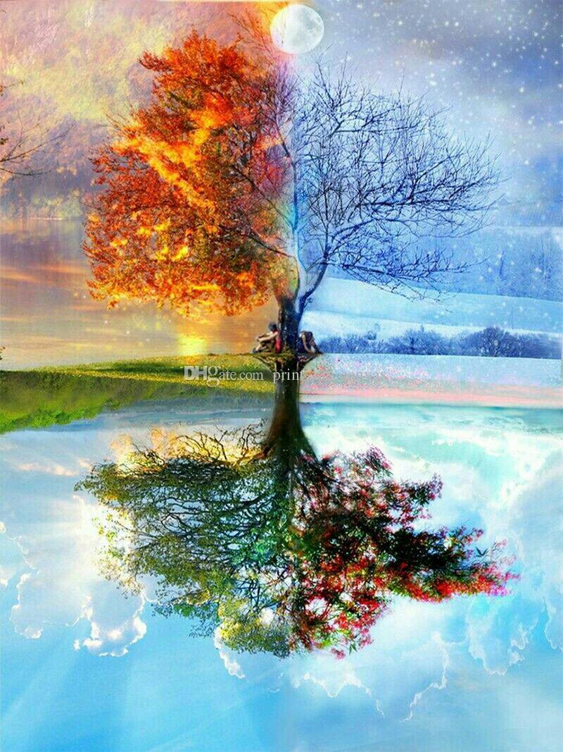 Großhandel Baum Der Liebe Vier Jahreszeiten Hd Leinwand Gedruckt Moderne  Abstrakte Wandkunst Malerei Wandbilder Für Wohnzimmer Wohnkultur Von ganzes 4 Jahreszeiten Baum