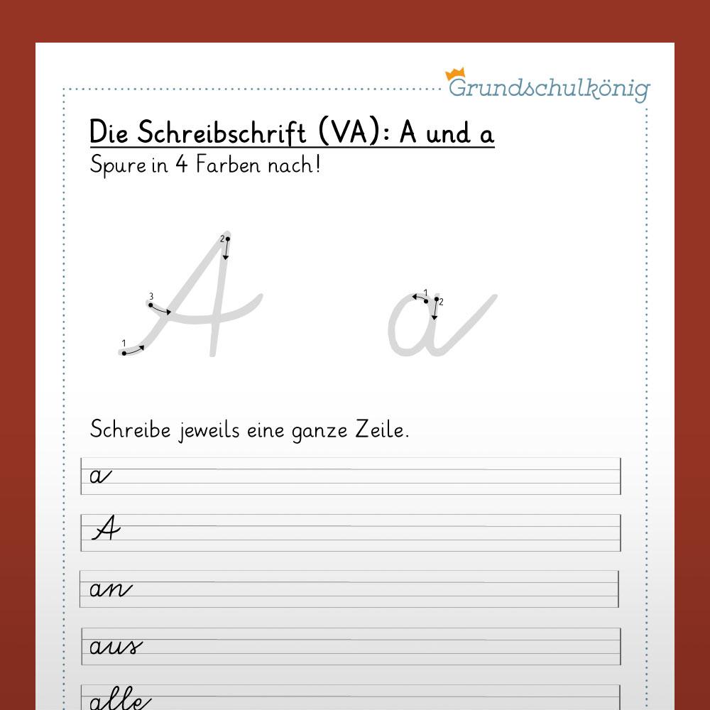 """Grundkurs """"Buchstaben Schreiben Lernen - Schreibschrift / Vereinfachte  Ausgangsschrift"""" innen K Schreibschrift"""