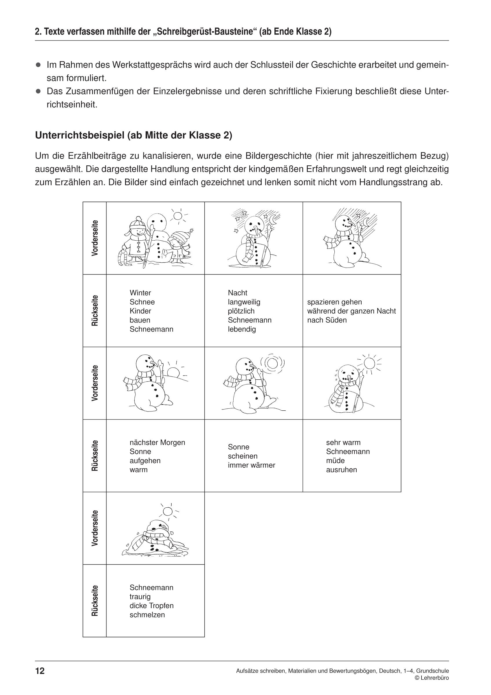 Grundschule Unterrichtsmaterial Deutsch Aufsatz innen Aufsatz Schreiben 3 Klasse