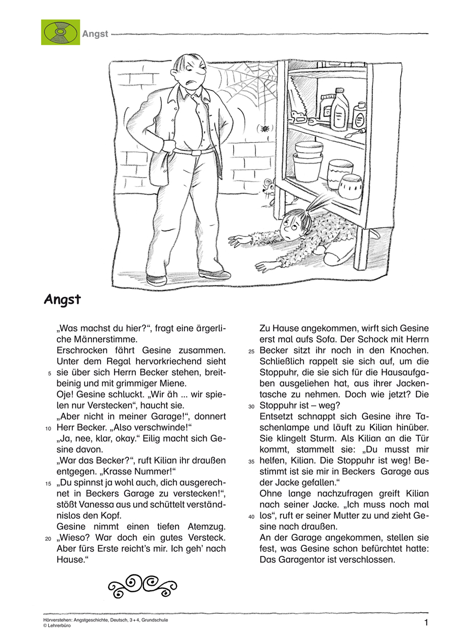 Grundschule Unterrichtsmaterial Deutsch Hörverstehen bestimmt für 4 Klasse Deutsch Geschichte Schreiben