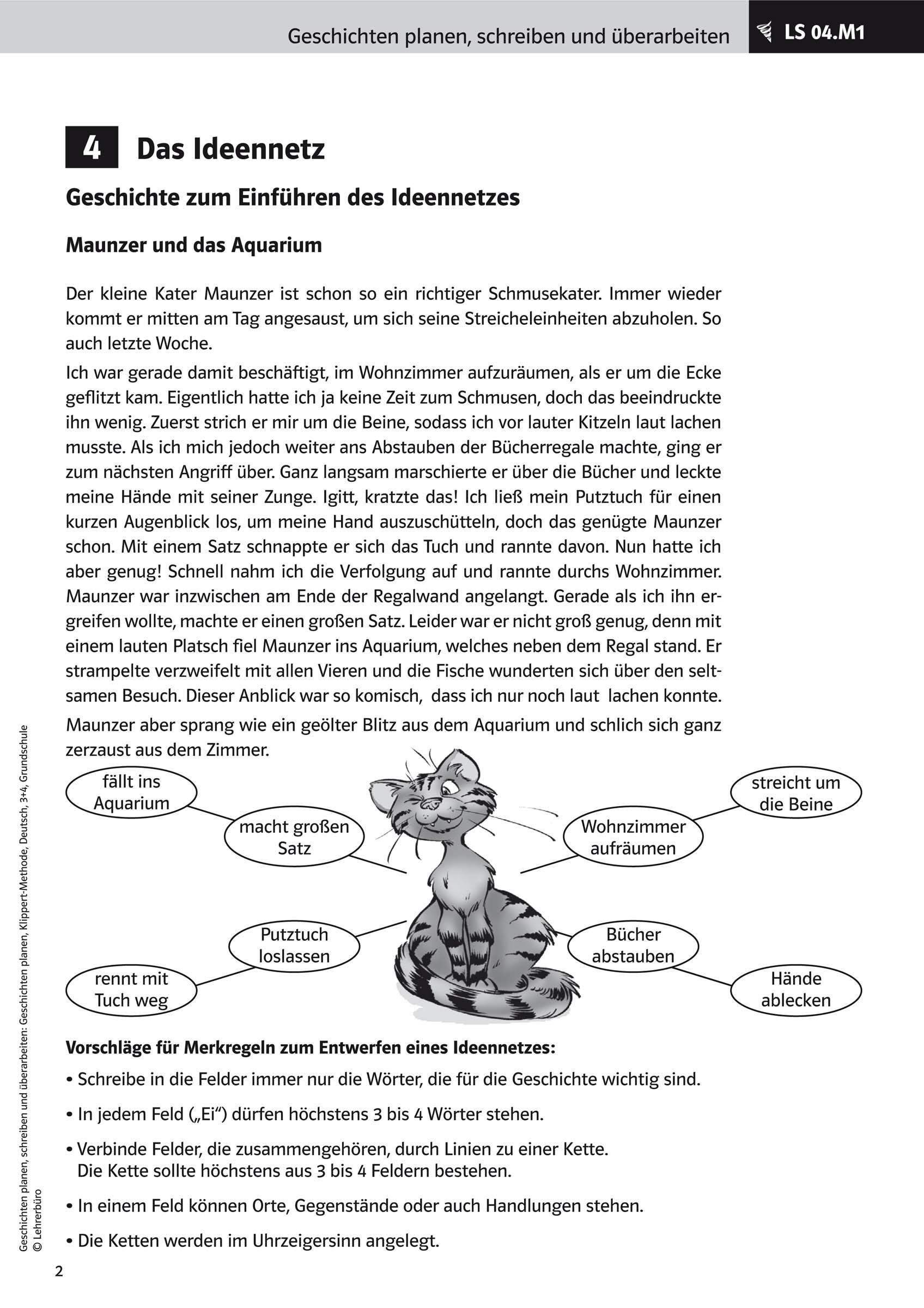 Grundschule Unterrichtsmaterial Deutsch Schreiben bestimmt