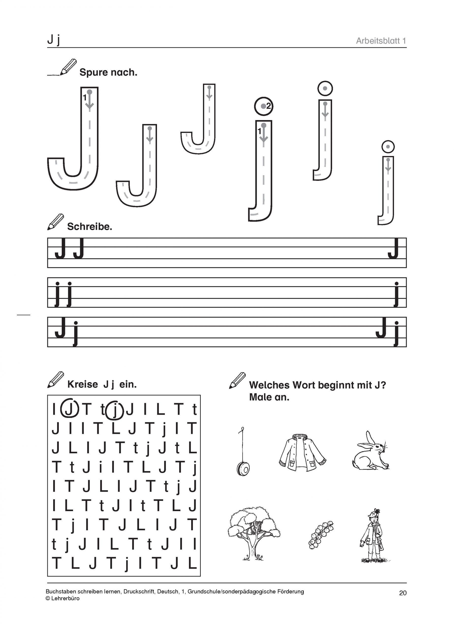 Grundschule Unterrichtsmaterial Deutsch Schriftsprache für Wörter Mi J