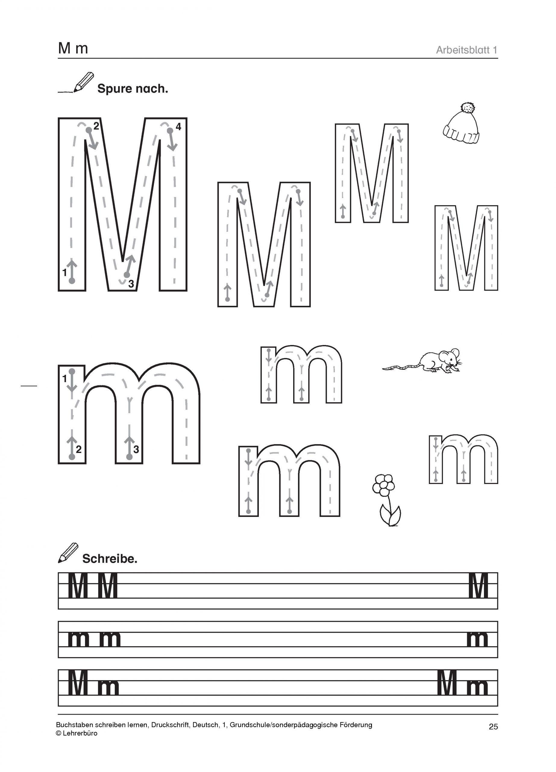 Grundschule Unterrichtsmaterial Deutsch Schriftsprache über Druckschrift Arbeitsblätter