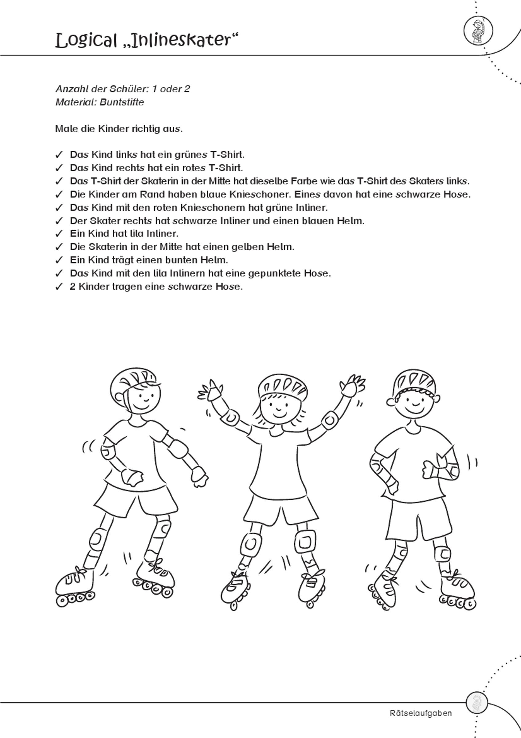 Grundschule Unterrichtsmaterial Sport Weitere Themen bei Rätselaufgaben
