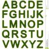 Grünes Alphabet - Großbuchstaben Stock Abbildung verwandt mit Alphabet Großbuchstaben