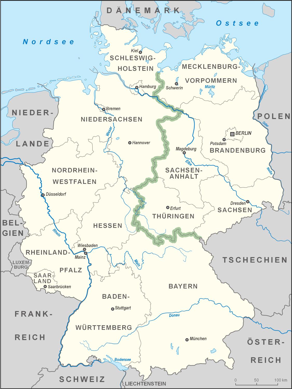 Grünes Band Deutschland – Wikipedia in Welche Länder Grenzen An Deutschland