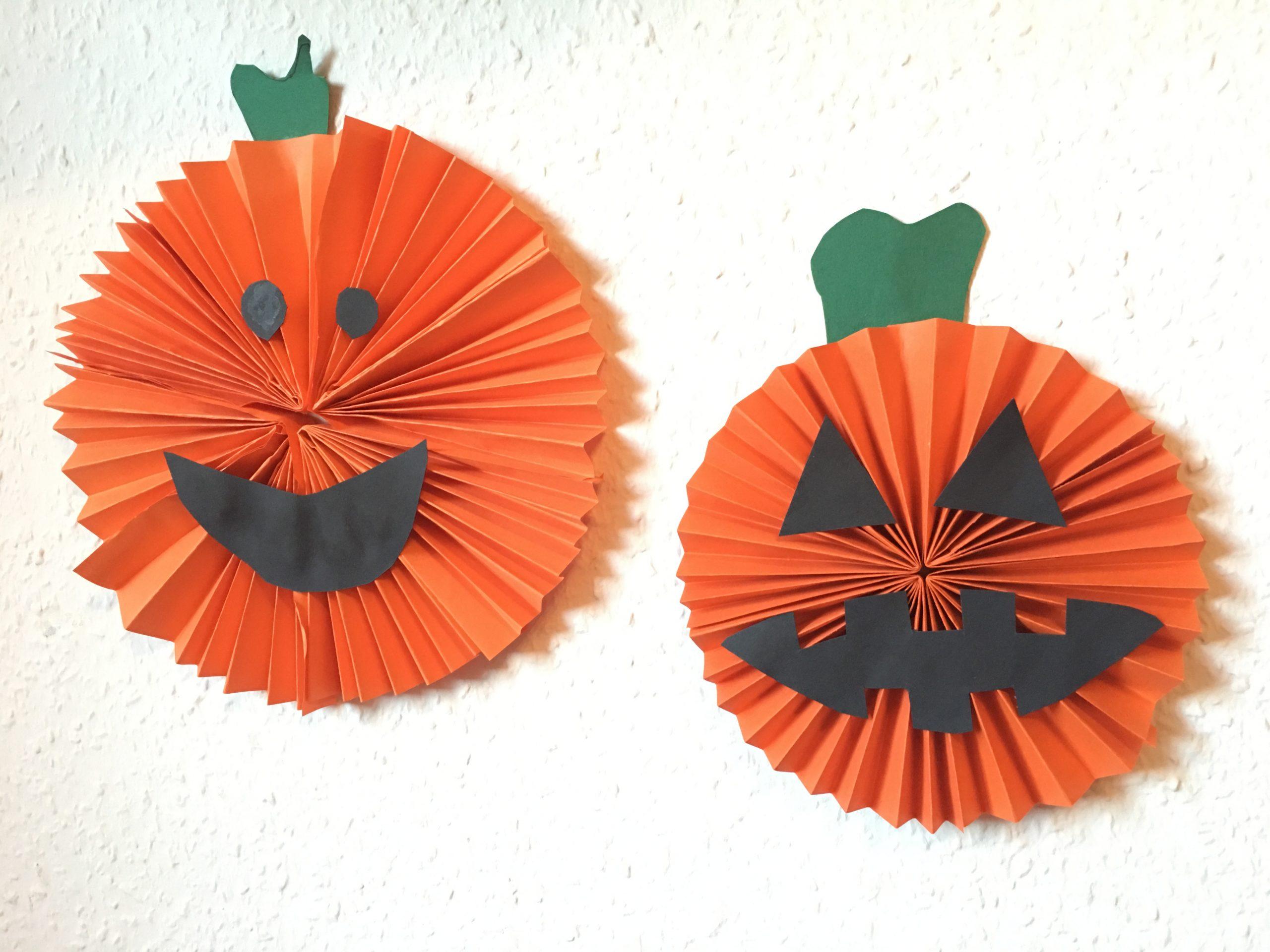 Grusel-Kürbis Aus Papier - Basteln Mit Kindern   Der über Basteln Mit Papier Für Kleinkinder