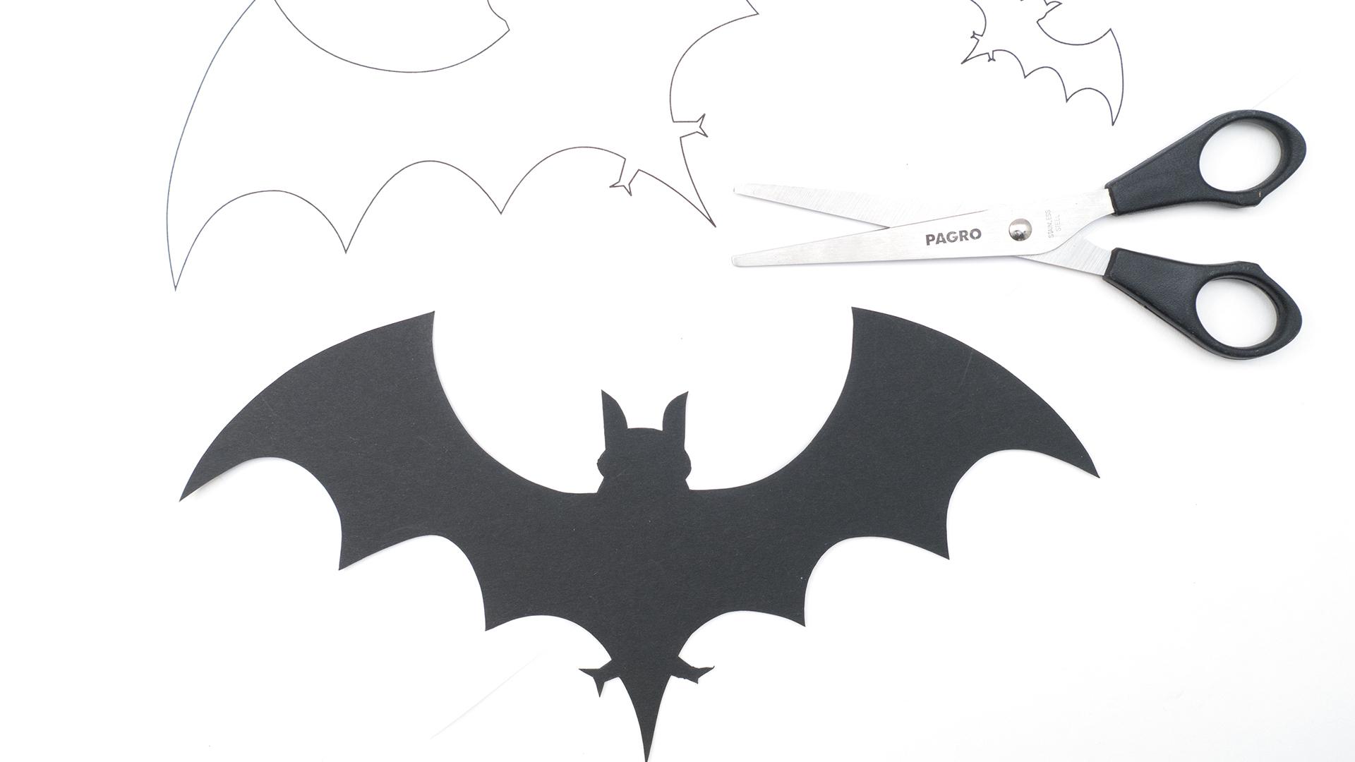 Gruseliger Bastelspaß - Alles Schule ganzes Fledermaus Schablonen Zum Ausdrucken
