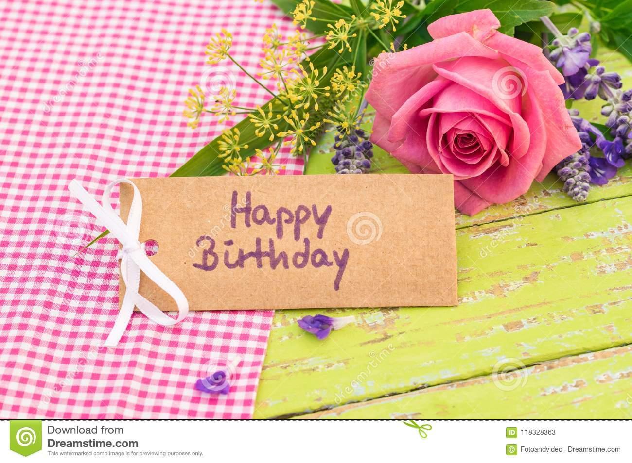 Grußkarte Alles Gute Zum Geburtstag Mit Rosafarbenem ganzes Geburtstags Grußkarten Kostenlos