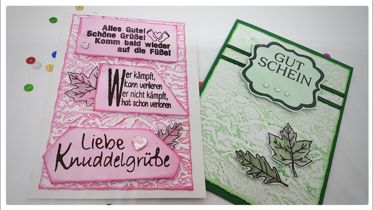 Grußkarte Gute Besserung - Einfach Selber Basteln Mit Papier Kartenbasteln  [Tutorial | Deutsch] mit Grusskarten Gute Besserung