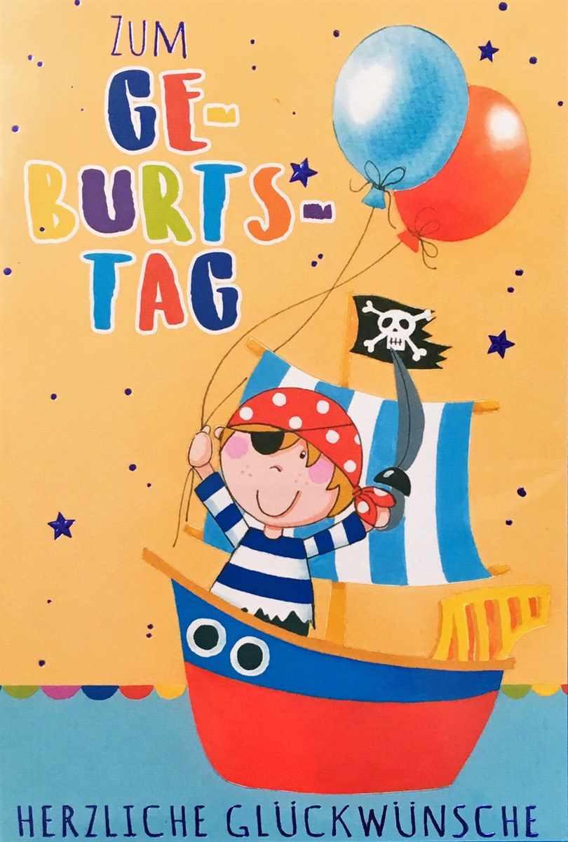 """Grußkarte """"pirat - Zum Geburtstag"""" mit Kindergeburtstagskarte"""