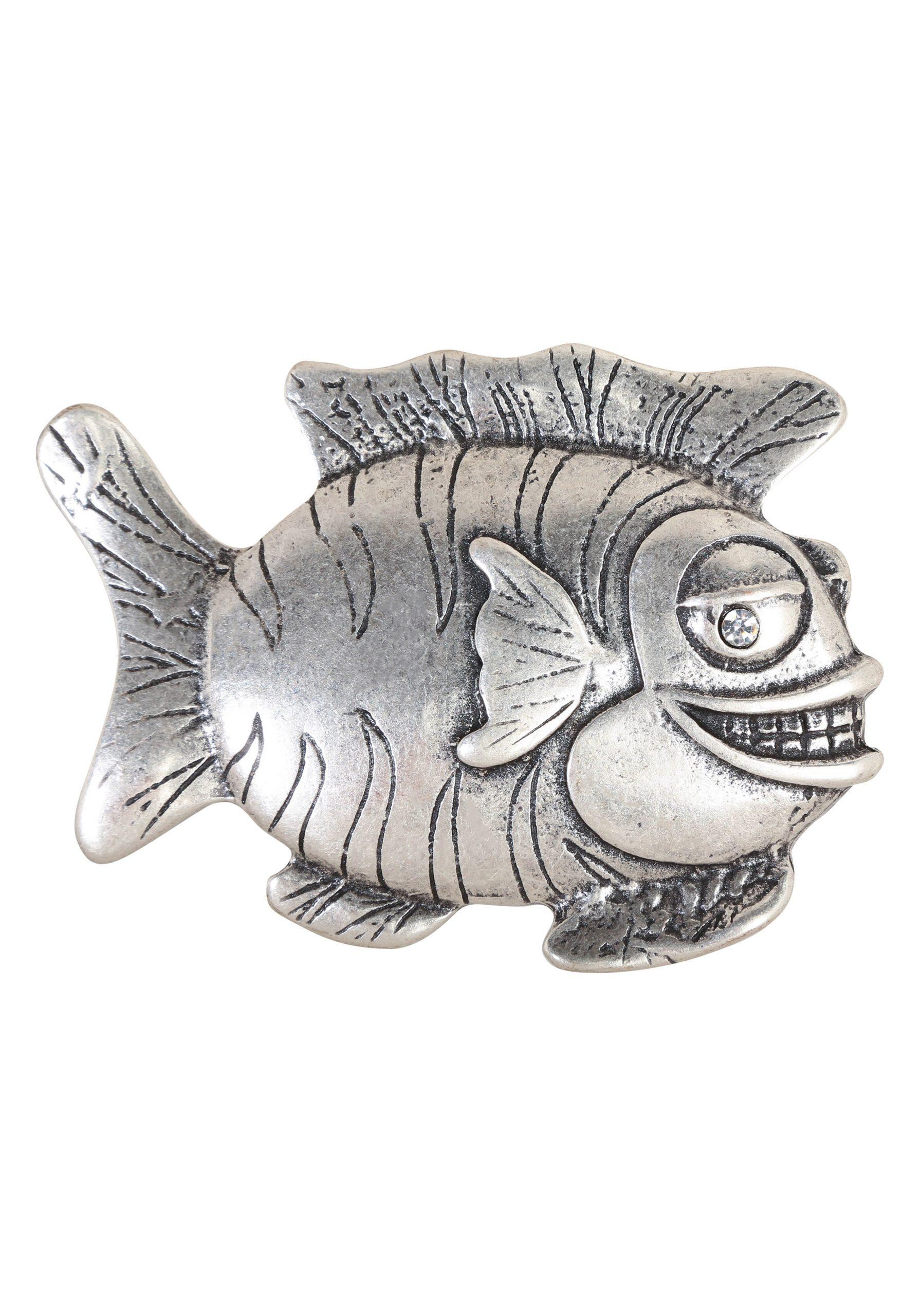 Gürtelschnalle Lachender Fisch mit Lachende Fische