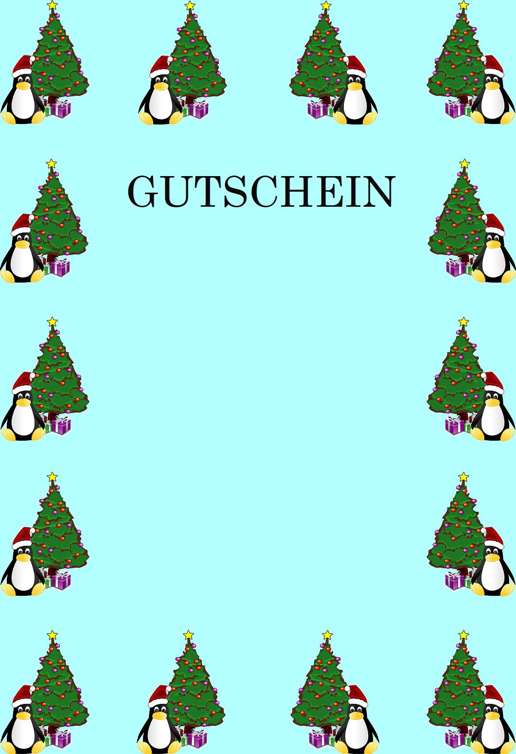 Gutscheinvorlagen Zu Weihnachten - Gutscheinspruch.de innen Vorlagen Weihnachtsmotive Kostenlos