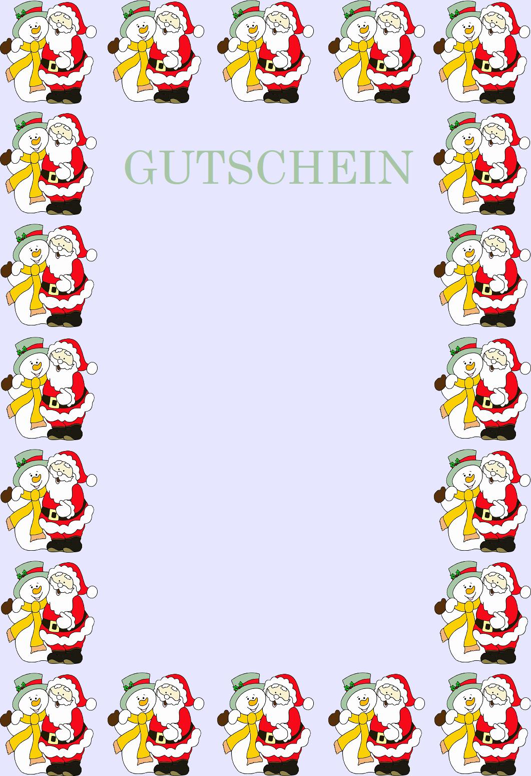 Gutscheinvorlagen Zu Weihnachten - Gutscheinspruch.de über Weihnachts Vorlagen