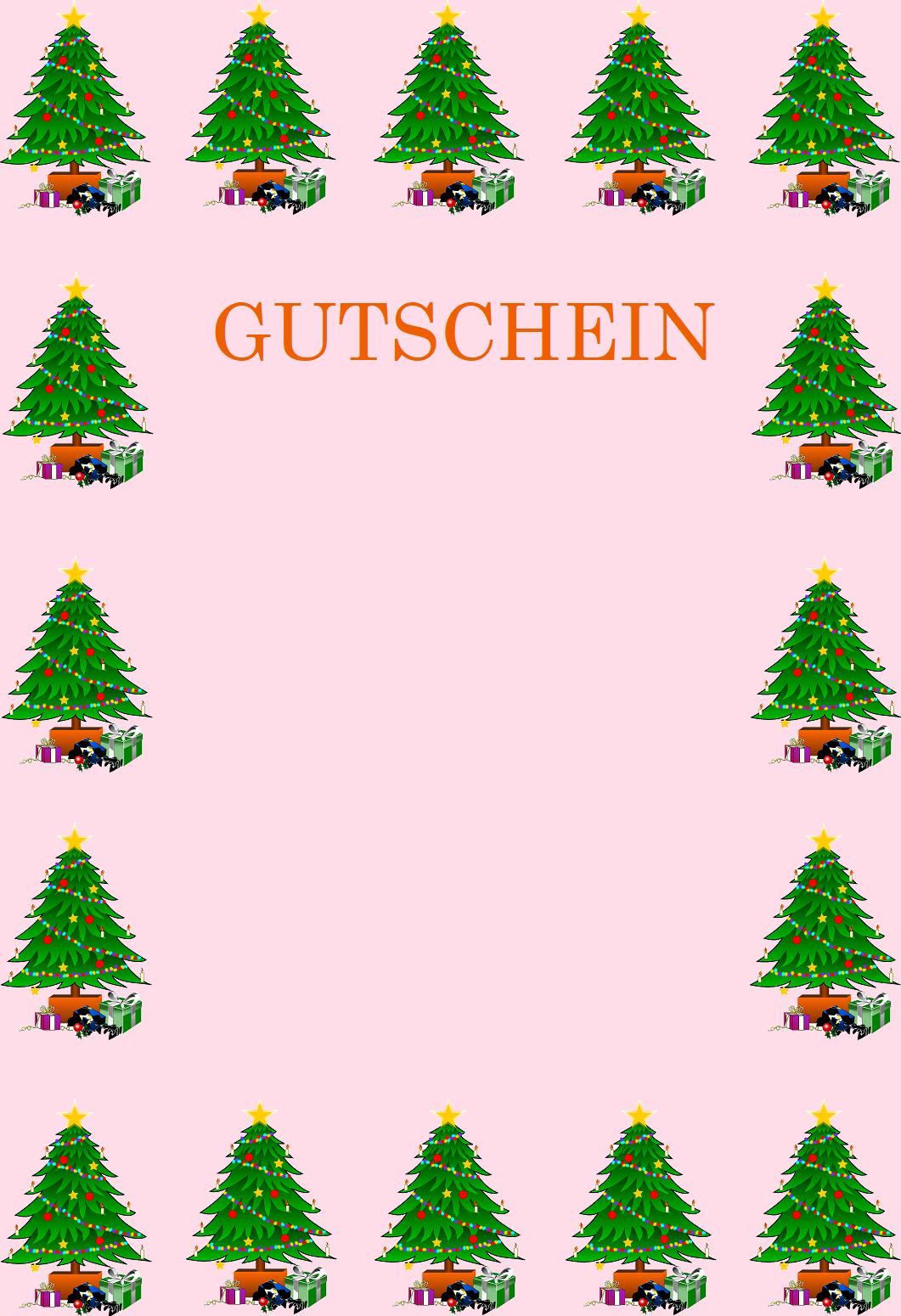 Gutscheinvorlagen Zu Weihnachten - Gutscheinspruch.de über Weihnachtsmotive Kostenlos Downloaden
