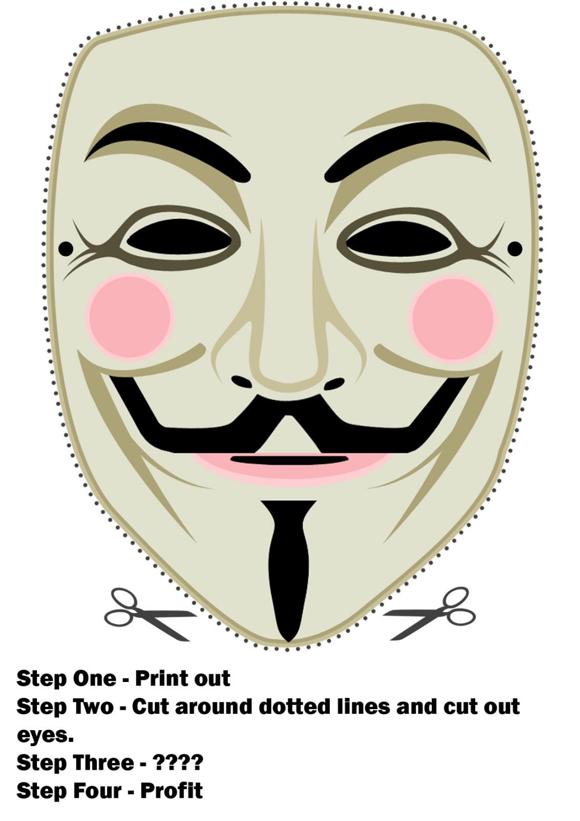 Guy Fawkes Maske Zum Selber Ausdrucken | -=Damax=- für Masken Zum Ausdrucken