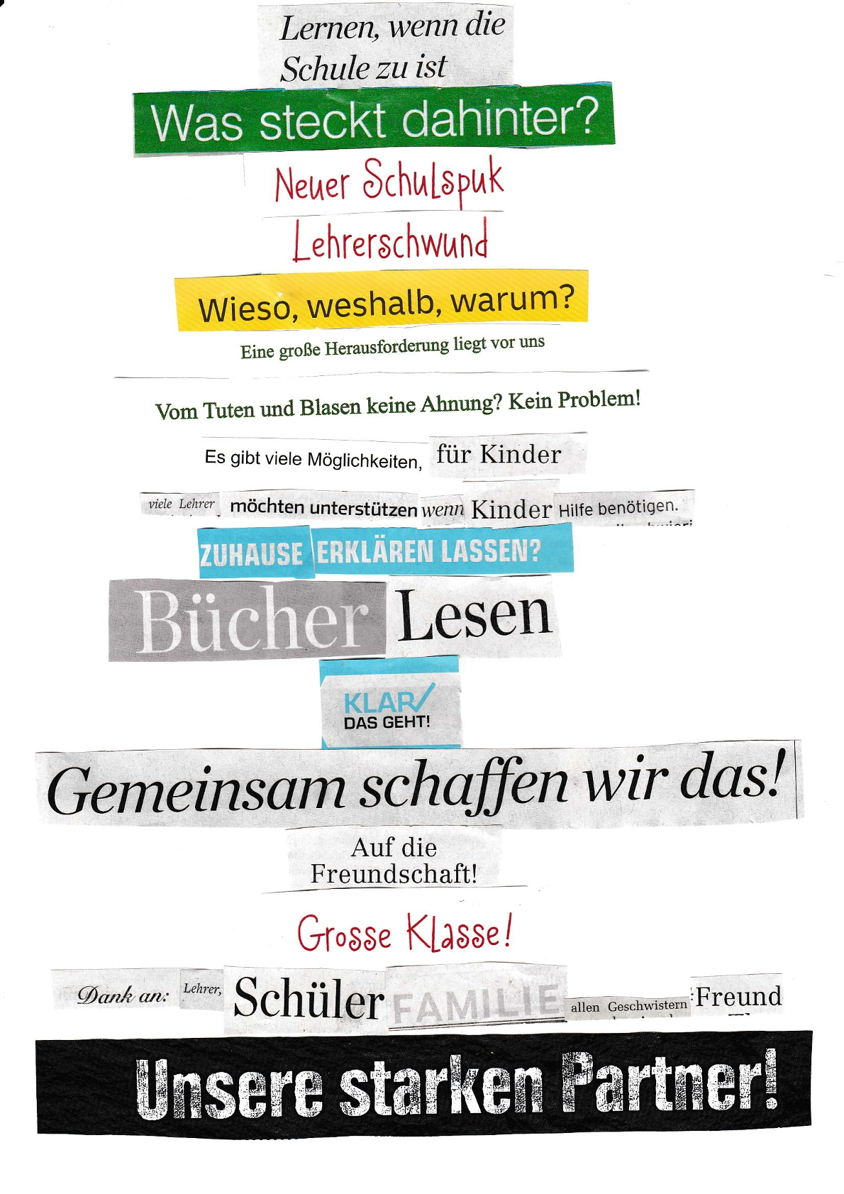 Gymnasium Wentorf: Ganovengedichte 6A über Von Tuten Und Blasen Keine Ahnung Englisch