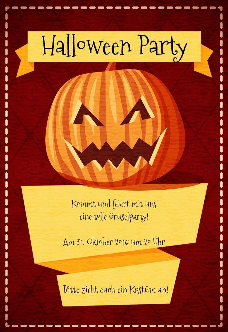 Halloween Einladung – Einladungskarten Basteln Für Eine für Halloween Einladung Vorlagen