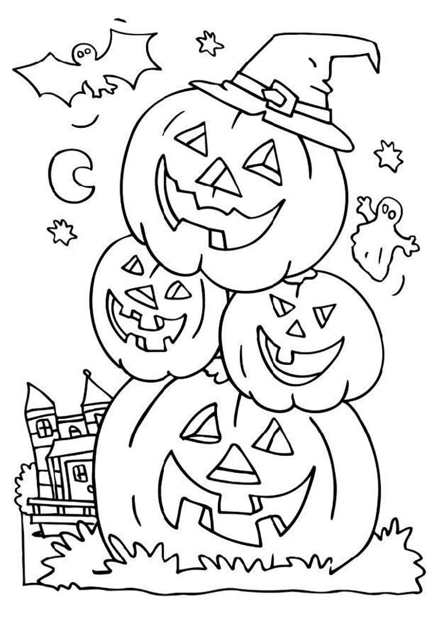 Halloween Malvorlagen Für Kinder, 100 Bilder. Drucken Sie mit Malvorlagen Halloween