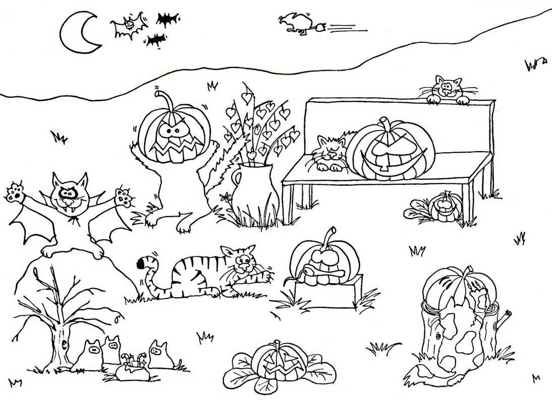 Halloween-Malvorlagen: Schaurige Ausmalbilder Für Kinder mit Halloween Malvorlagen Ausdrucken