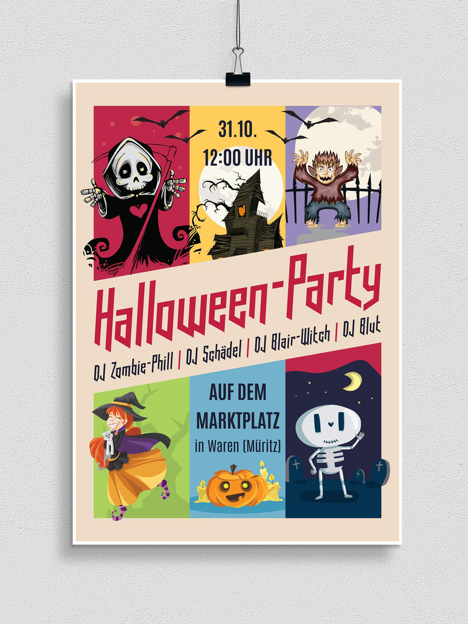 Halloween-Vorlagen Für Plakat, Flyer & Einladung Herunterladen über Halloween Einladung Vorlagen