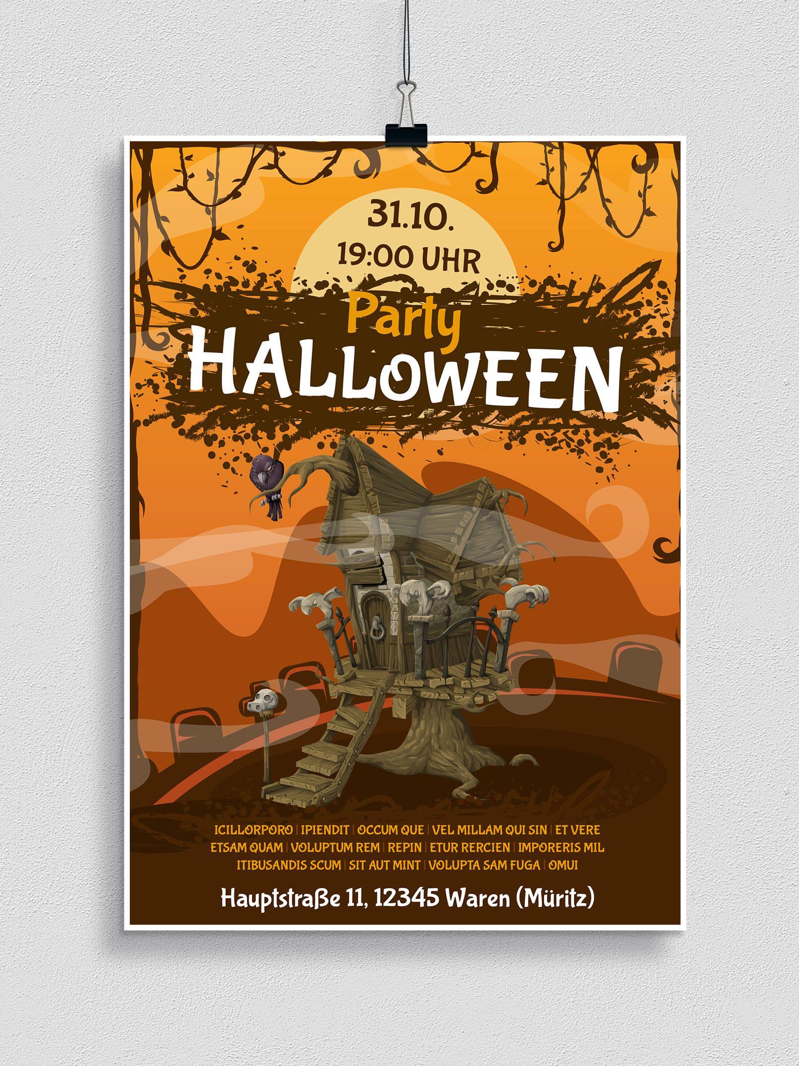 Halloween-Vorlagen Für Plakat, Flyer & Einladung innen Halloween Einladung Vorlagen