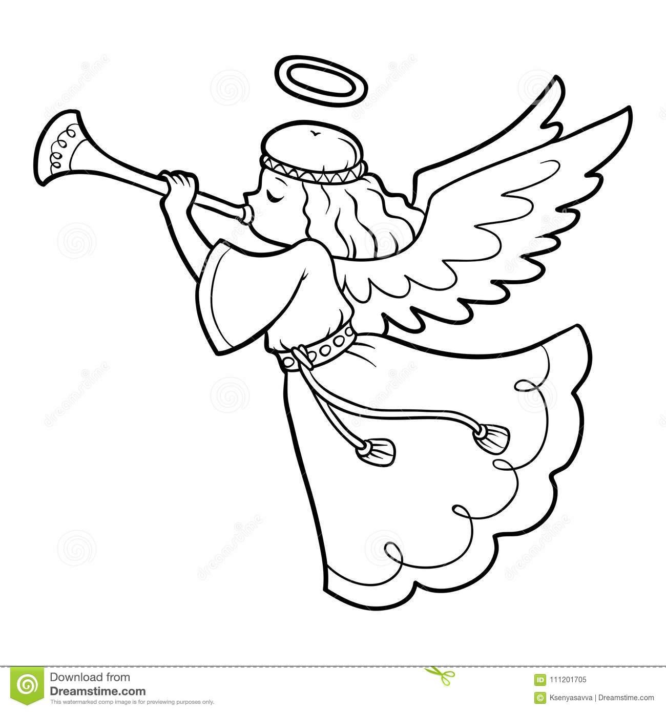 malvorlage engel umriss - kinderbilder.download