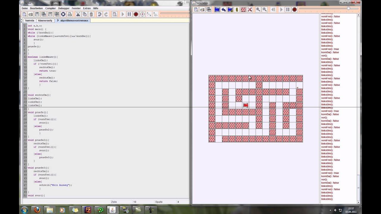Hamster Simulator - Rechte Hand Regel / Labyrinth Lösen innen Labyrinth Lösen