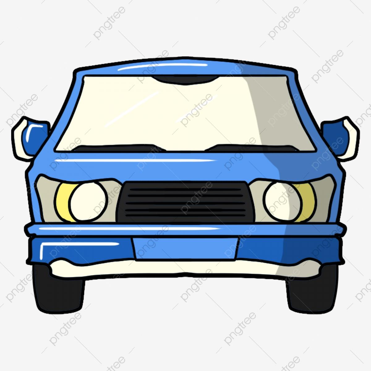 Hand Gezeichnet Blau Handgemaltes Auto Karikatur, Blaues innen Auto Bilder Gezeichnet