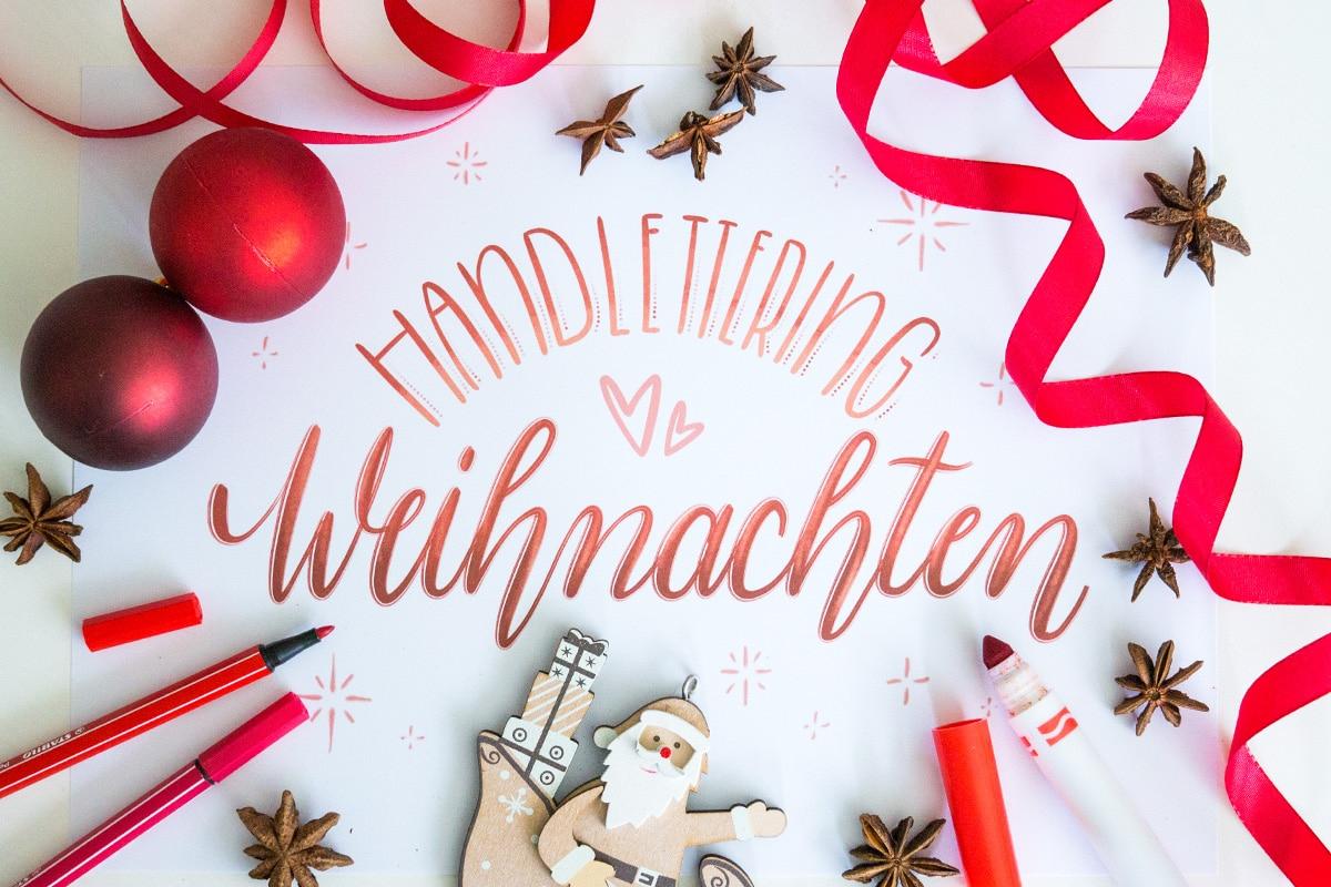 Handlettering & Weihnachten: Grüße, Ideen, Vorlagen & Mehr! 🎅 verwandt mit Weihnachtsgrüße Selbst Gestalten Kostenlos