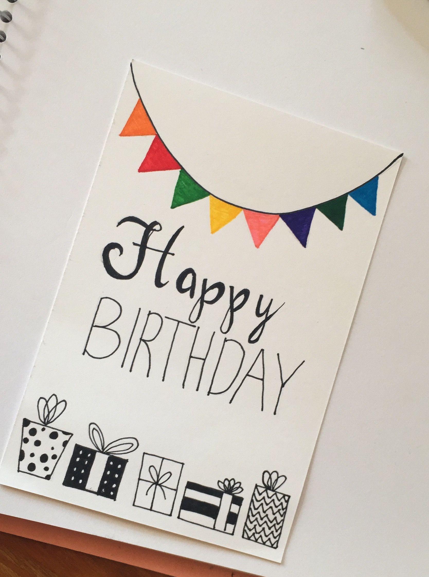 Handmade Birthday Card ''happy Birthday'' | Geburtstagskarte innen Geburtstagskarten Ideen