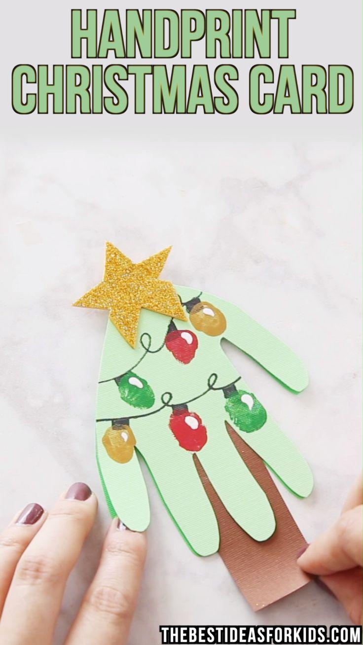 Handprint Weihnachtskarte – Eine Einfache Weihnachtskarte über Weihnachtskarte Für Kinder