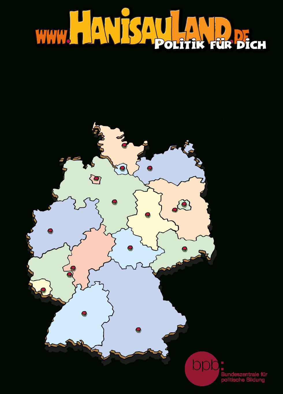 Hanisauland - Interaktive Tafelbilder mit Bundesländer Deutschland Mit Hauptstädten Lernen