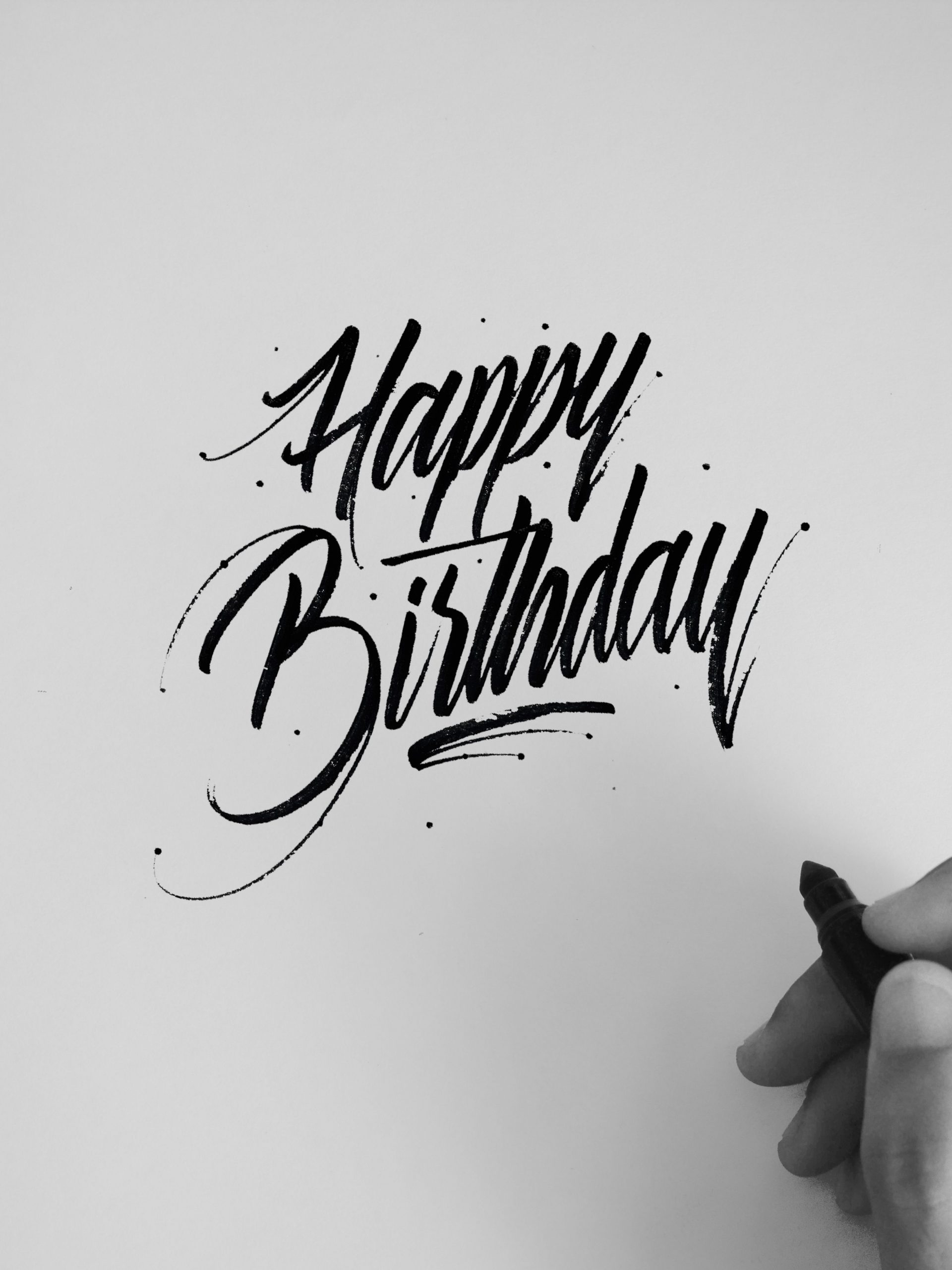 Happy Birthday'' #caligrafía #calligraphy #digital verwandt mit Happy Birthday Schriftzug Zum Ausmalen