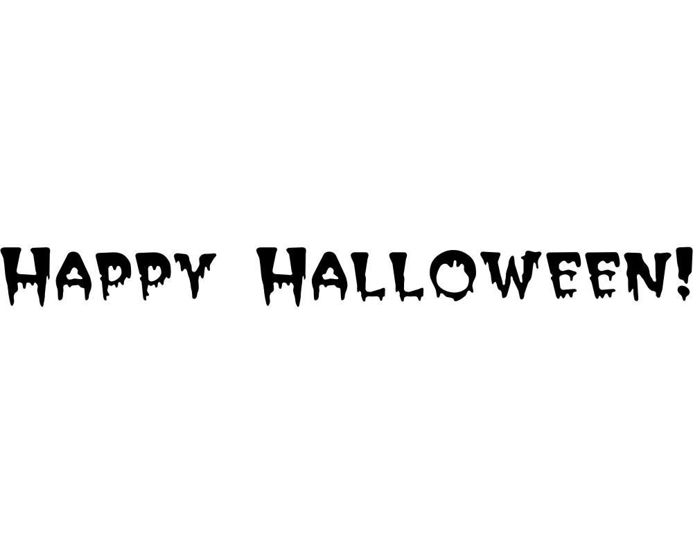 Happy Halloween Schriftzug in Happy Halloween Schriftzug