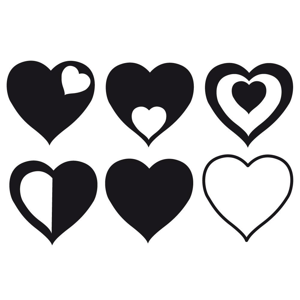 Happyfabric - Plotterdatei Herzen mit Herzen Bilder Kostenlos