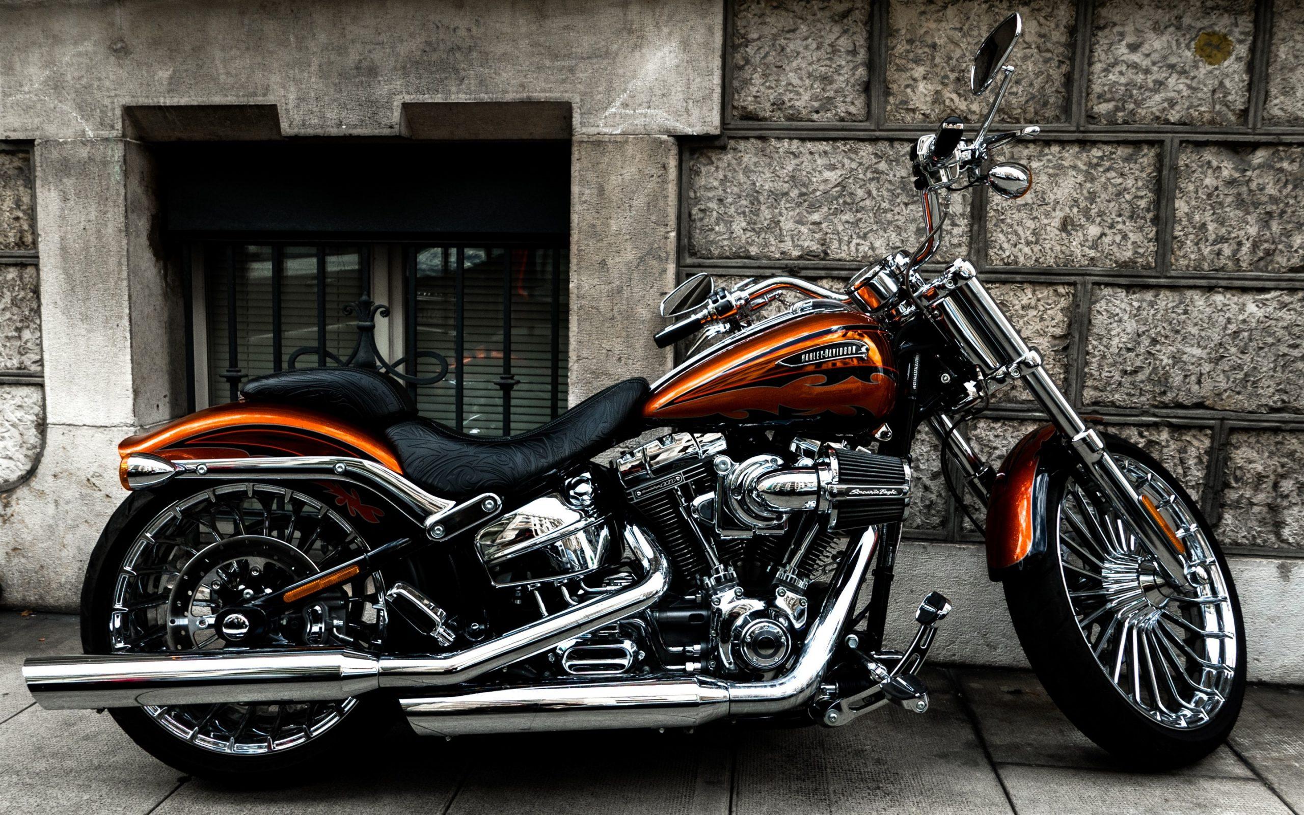 Harley-Davidson Motorrad, Seitenansicht 3840X2160 Uhd 4K in Harley Davidson Hintergrundbilder