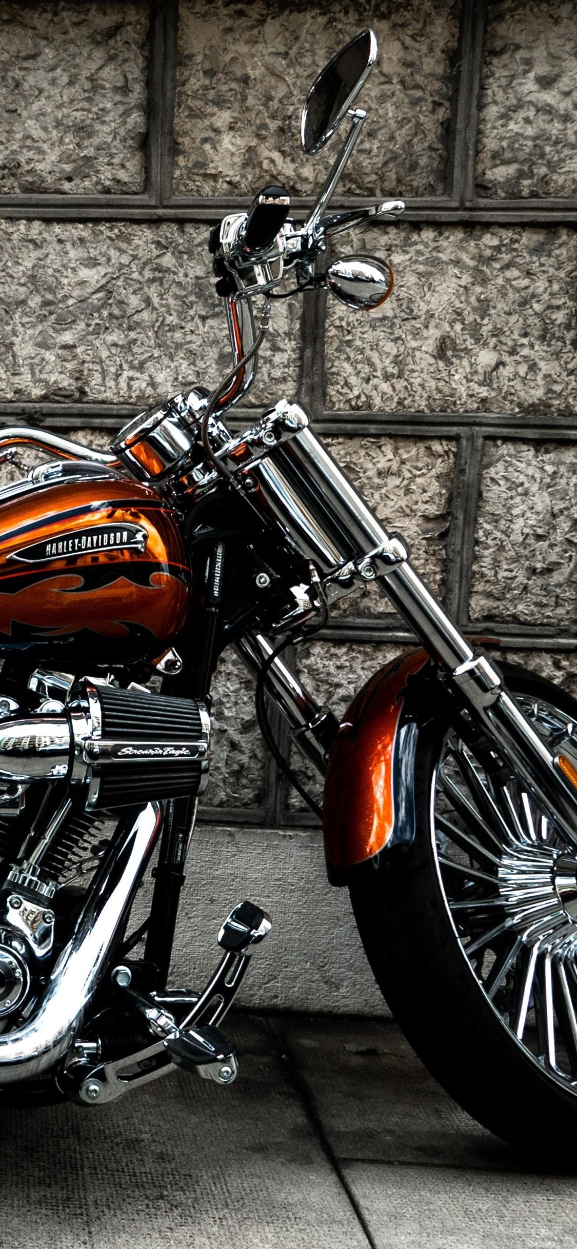 Harley-Davidson Motorrad, Seitenansicht 3840X2160 Uhd 4K mit Harley Davidson Hintergrundbilder